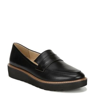 ナチュライザー レディース スリッポン・ローファー シューズ Adiline Leather Wedge Loafers Black Leather