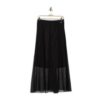 ティー・タハリ レディース スカート ボトムス Mesh Overlay A-Line Skirt BLACK
