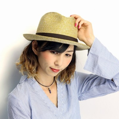 GALLIANO SORBATTI 帽子 ペーパー ブレード 春夏 メンズ レディース ワイド ハット ガリアーノ ソルバッティ イタリア製 中折れ帽 インポート カラシ