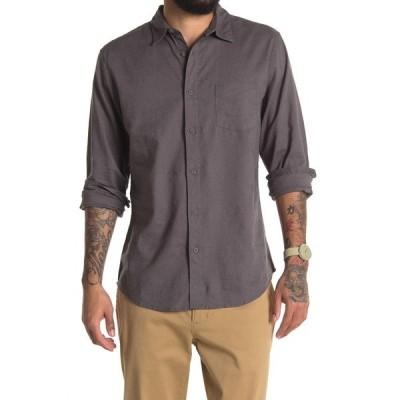 オニア メンズ シャツ トップス Abe Linen Blend Regular Fit Shirt ASH