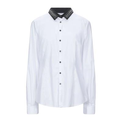 トラサルディ ジーンズ TRUSSARDI JEANS シャツ ホワイト 48 コットン 78% / ナイロン 19% / ポリウレタン 3% シャツ