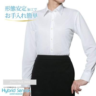 レディースシャツ 長袖 形態安定 標準型 HeartMadeShirts P31HMA289