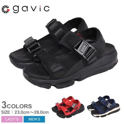 ガビックライフスタイル サンダル レディース メンズ スポーツサンダル エアパックサンダル パーン プラス GAVIC ブラック 黒 靴