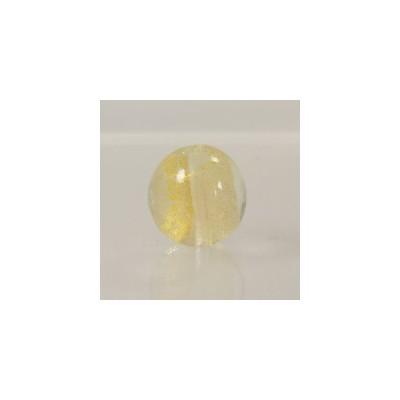 べネチアンガラス  金箔入 丸玉 透明20mm