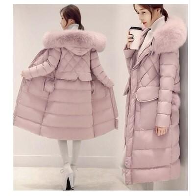 ダウンコートレディース Aライン コート 可愛い ダウンジャケット ロング丈コート 上品 高品質 3色 防寒性抜群 スリム アウター 厚手 おしゃれ 通勤 OL