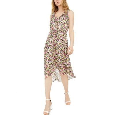 アイエヌシーインターナショナルコンセプト ワンピース トップス レディース INC Mosaic Floral Chiffon Dress,  Yellow Multi