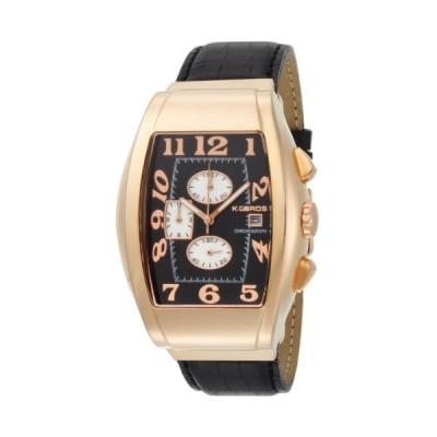 K&BROS Men's 9425-4 Steel Bold Chronograph Watch 並行輸入品