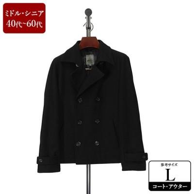 LOUIS CHAVLON Pコート メンズ Lサイズ 黒/ブラック ピーコート 男性用 中古 ZQES08