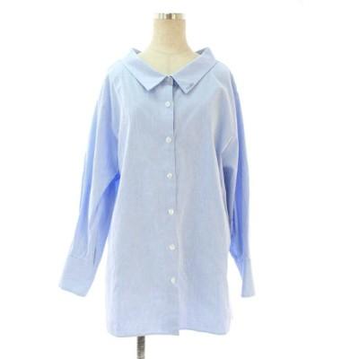 フォクシーニューヨーク collection シャツ ブラウス 40097 オーバーシャツ ストライプ 長袖 40
