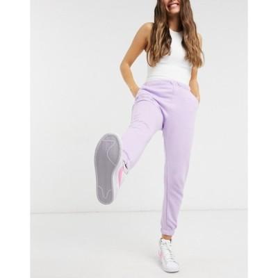 プルアンドベアー レディース カジュアルパンツ ボトムス Pull&Bear pacific sweatpants in purple