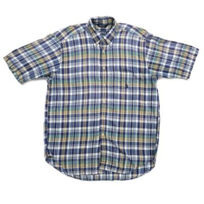 古着 90年代 NAUTICA ノーティカ 半袖 ボタンダウンシャツ チェック サイズ表記:XL