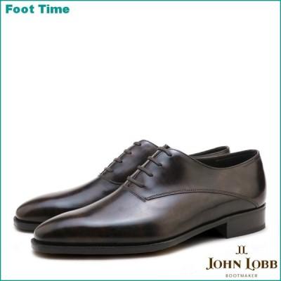 ジョンロブ ベケッツ プレステージソール ダークブラウン ホールカット ビジネスシューズ 紳士靴 メンズ
