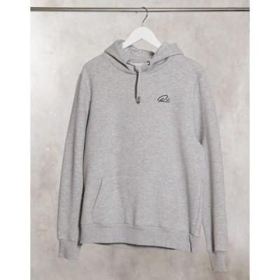 リバーアイランド メンズ パーカー・スウェットシャツ アウター River Island RI hoodie in gray Grey