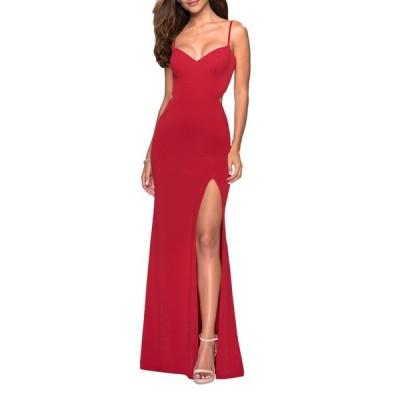 ラフェム レディース ワンピース トップス V-Neck Sleeveless Strappy-Back Jersey Gown