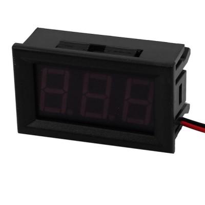 uxcell デジタル電圧計モジュール プラスチック製 ブラック パネル電圧計 DC 4.5V-30.0V 48mmx29mmx22mm