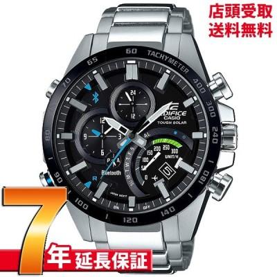 店頭受取対応   CASIO カシオ EDIFICE エディフィス 腕時計 ウォッチ TIME TRAVELLER スマートフォンリンクモデル EQB-501XDB-1AJF メンズ
