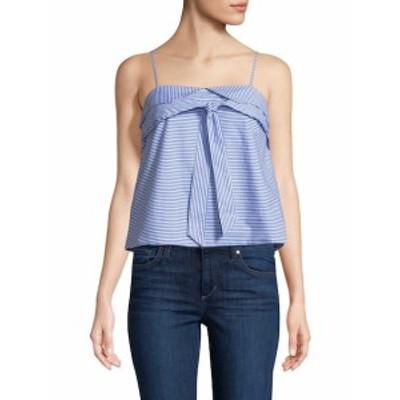 ファースト サイト レディース トップス シャツ Striped Cotton Top