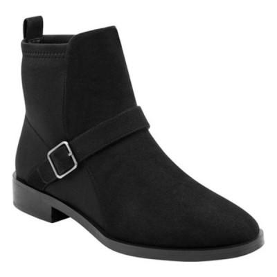 エアロソールズ ブーツ&レインブーツ シューズ レディース Beata Ankle Boot (Women's) Black Faux Nubuck/Neoprene Fabric