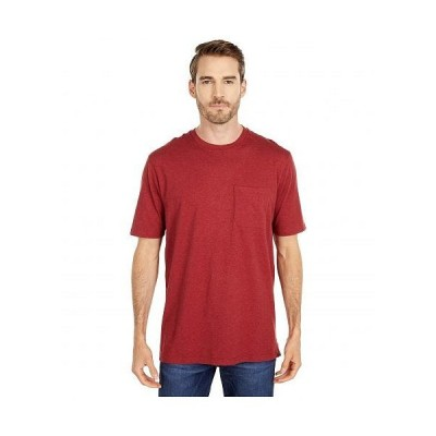 Pendleton ペンドルトン メンズ 男性用 ファッション Tシャツ Deschutes Pocket Tee Short Sleeve - Red Heather