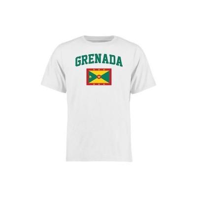 海外バイヤーおすすめ Tシャツ トップス ウエア Grenada ホワイト フラッグ Tシャツ