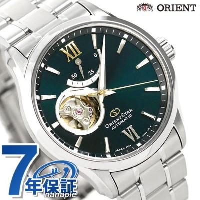 19日は+7倍でポイント最大22倍 オリエントスター 腕時計 メンズ ORIENT STAR 日本製 自動巻き オープンハート コンテンポラリー RK-AT0003E グリーン