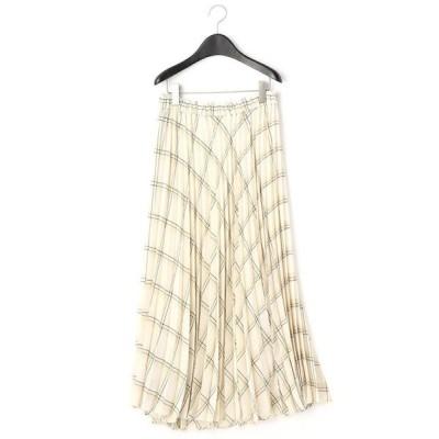 COMME CA/コムサ サマーエアリーウール プリーツスカート オフ系 15号