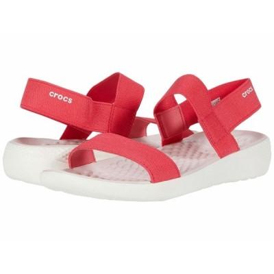 クロックス サンダル シューズ レディース LiteRide Sandal Poppy/White