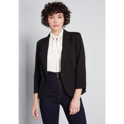 モドクロス ModCloth レディース スーツ・ジャケット 七分袖 アウター timeless tailoring 3/4 sleeve blazer black