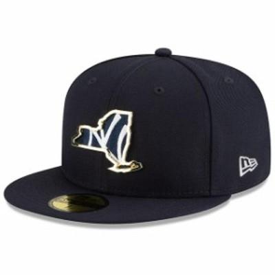 New Era ニュー エラ スポーツ用品  New Era New York Yankees Navy Metal & Thread State 59FIFTY Fitted Hat