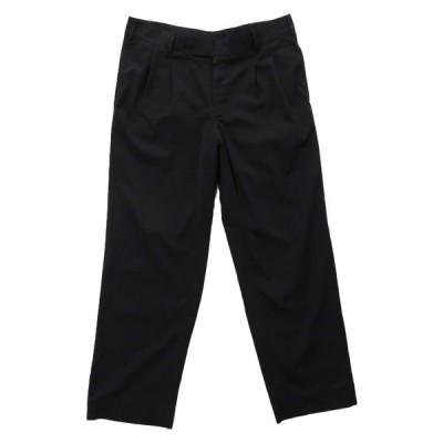スラックス パンツ ツータック 無地 ブラック サイズ表記:--