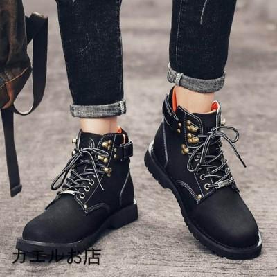 ワークブーツ メンズ イエローブーツ カジュアル シューズ 靴 男性 ストリート