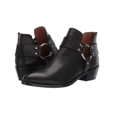 Frye フライ レディース 女性用 シューズ 靴 ブーツ アンクルブーツ ショート Ray Harness Back Zip - Black Soft Full Grain