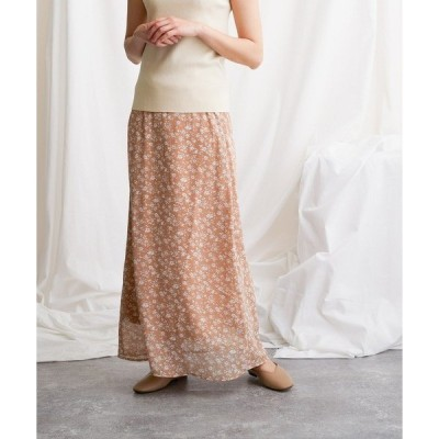 スカート 【FLEUR DE KALINA/フレール ドゥ カリーナ】小花柄ロングスカート