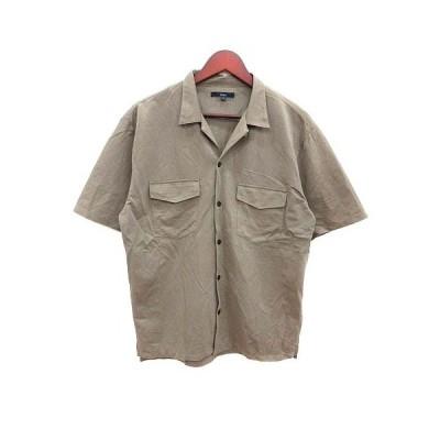 【中古】チャオパニック CIAOPANIC シャツ スキッパーカラー 半袖 L ベージュ /YK メンズ 【ベクトル 古着】
