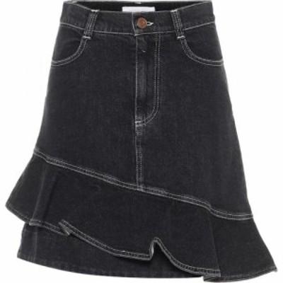 クロエ See By Chloe レディース ミニスカート スカート ruffle denim miniskirt Crystal Black
