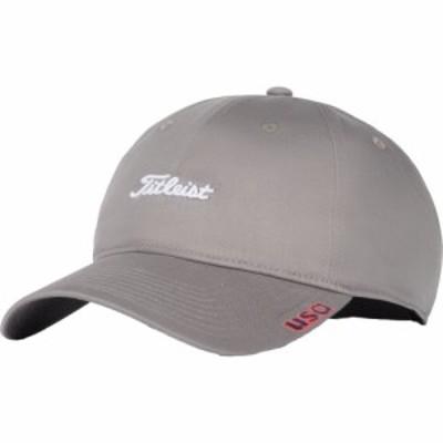 タイトリスト Titleist メンズ キャップ 帽子 2020 Star and Stripes Nantucket Lightweight Golf Hat Grey/White