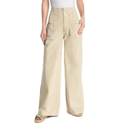 フリーピープル レディース デニムパンツ ボトムス Midnight City High Waisted Wide Leg Jeans NEUTRAL
