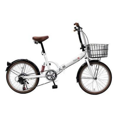TOP ONE FS206LL-37-PW パールホワイト [折りたたみ自転車(20インチ・6段変速)] 折りたたみ自転車・ミニベロ