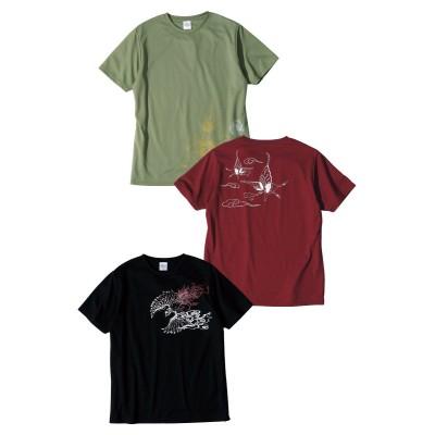 吸汗速乾メッシュ半袖プリントTシャツ3枚組(和柄) Tシャツ・カットソー, T-shirts,