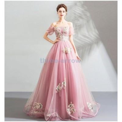 ウエディングドレス レディース パーティドレス ロングドレス ベアトップ イブニングドレス 披露宴 発表会ドレス 結婚式 カラードレス 演奏会 ドレス