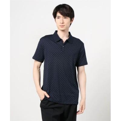 BANANA REPUBLIC / 【BANANA REPUBLIC FACTORY STORE】スリムフィット マイクロプリント ドレスポロシャツ MEN トップス > ポロシャツ
