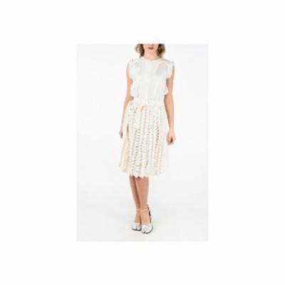 MAISON MARGIELA/メゾン マルジェラ White レディース MM0 Cut Out Details Silk Dress With Belt dk