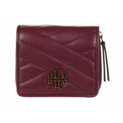 トリーバーチ レディース 財布 アクセサリー Kira Chevron Bifold Mini Wallet Imperial Garnet
