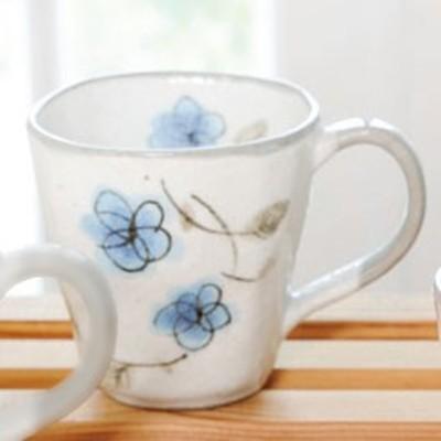 マグカップ おしゃれ/ 粉引 花あそび マグ(ブルー) /陶器 おしゃれ ギフト プレゼント 贈り物 カフェ