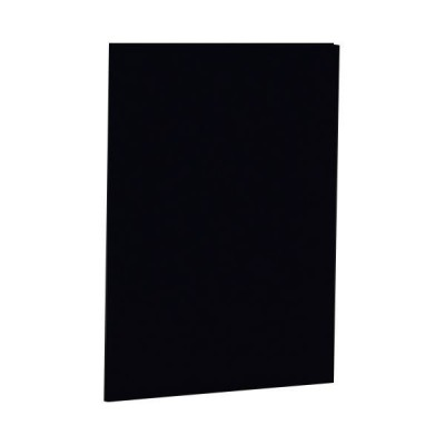 (まとめ) ナカバヤシ 証書ファイル 布クロス A4二つ折り 同色コーナー固定タイプ 黒 FSH-A4-D 1冊 〔×5セット〕
