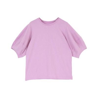 【ティティベイト】 パフスリーブTシャツ レディース パープル M titivate