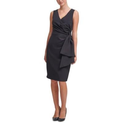 ジェシカハワード レディース ワンピース トップス Bow-Detail Scuba-Crepe Sheath Dress