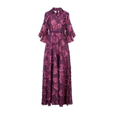 BADGLEY MISCHKA ロングワンピース&ドレス パープル 4 コットン 71% / ポリエステル 23% / 金属繊維 6% ロングワンピ