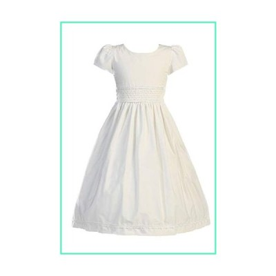 First Communion Dresses for Girls 7-16 Mid Calf First Communion Dress Cotton White Tea Length Sleeves Size 8並行輸入品