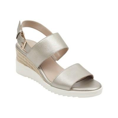 イージースピリット サンダル シューズ レディース Women's Evolve Zen Wedge Sandal Gold